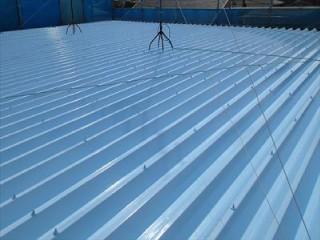 折板屋根の屋根塗装:施工後