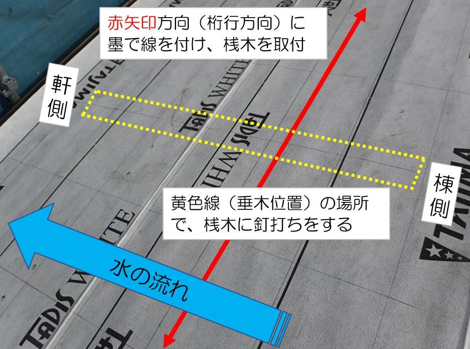 東広島市瓦屋根葺き替え工事ルーフィング貼り