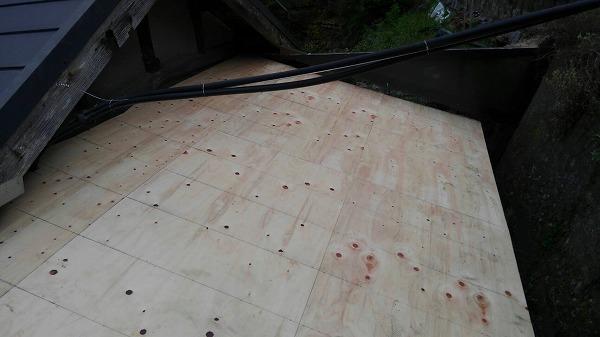 呉市屋根リフォーム工事屋根下地構造合板