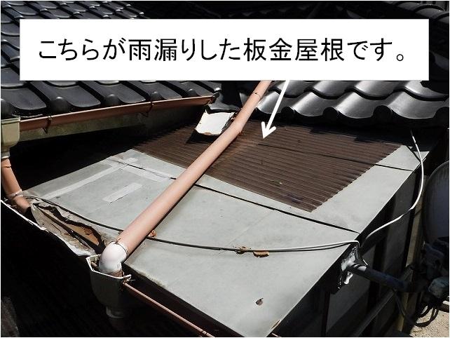 雨漏り板金屋根