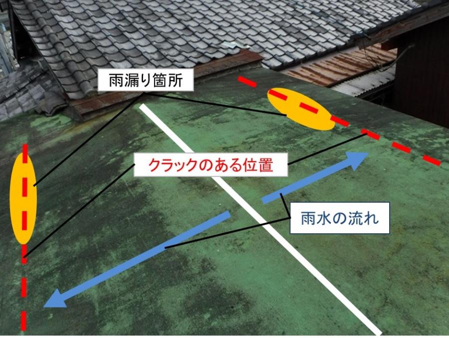 雨漏り位置確認