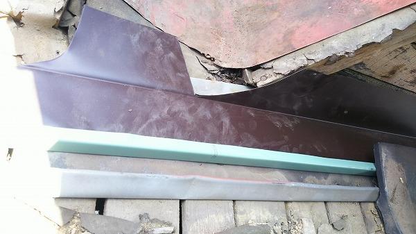 排水用捨て谷板金工事