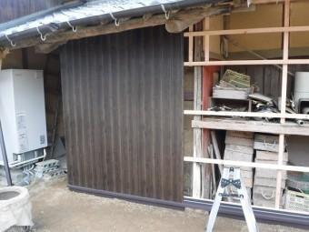 トタン壁本体工事