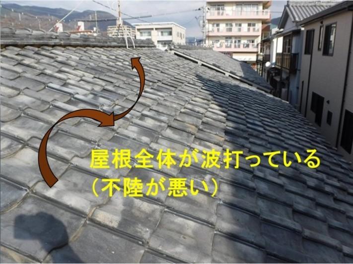 呉市雨漏り調査屋根不陸悪い