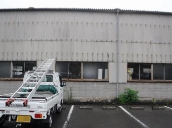 呉市工場倉庫大波スレート雨漏り調査