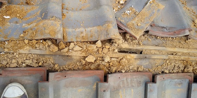 棟解体 下地に穴