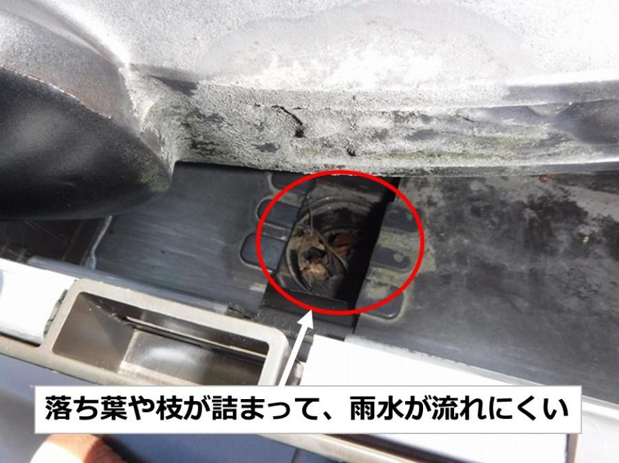 広島市佐伯区雨漏り調査樋詰まり