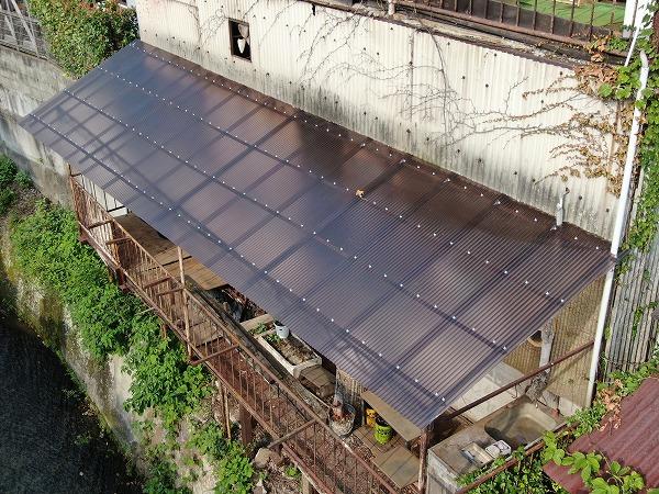 広島市西区ポリカ波板貼り換え工事完成