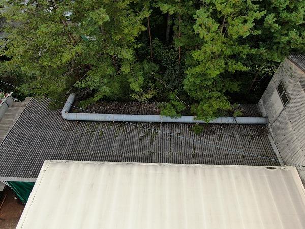 大波スレート屋根雨漏り調査