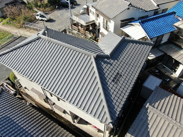 海田町屋根調査ドローン撮影