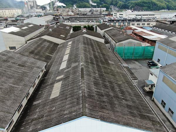 呉市工場倉庫雨漏り調査大波スレート