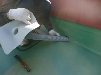 東広島市特殊部位排水ドレン周り工事