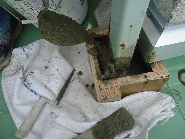 物干し場柱基礎成型工事