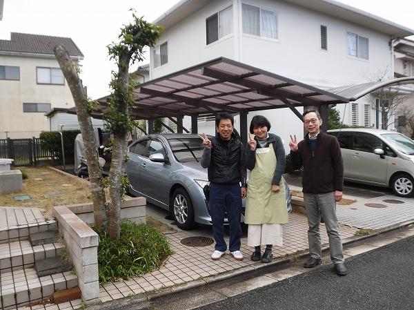 東広島市 カーポート屋根の貼り換え工事でお喜びの声を頂きました