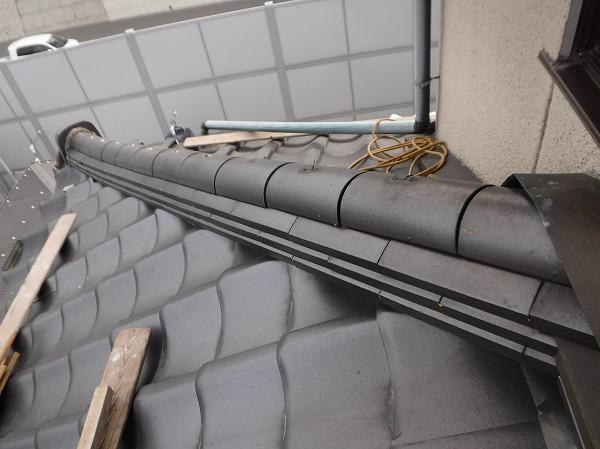1階隅棟解体準備