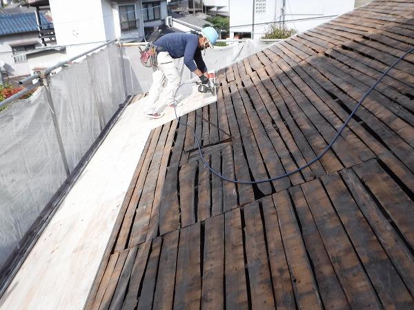 構造合板貼り工事