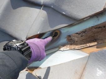 谷板銅板腐食