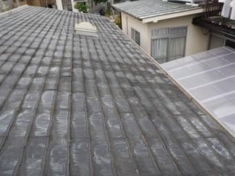 北面スレート屋根