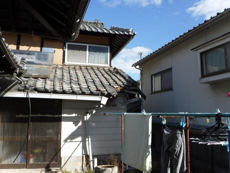 下屋根被害