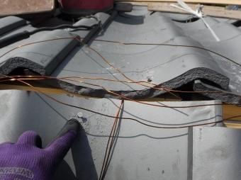 棟際瓦釘穴加工