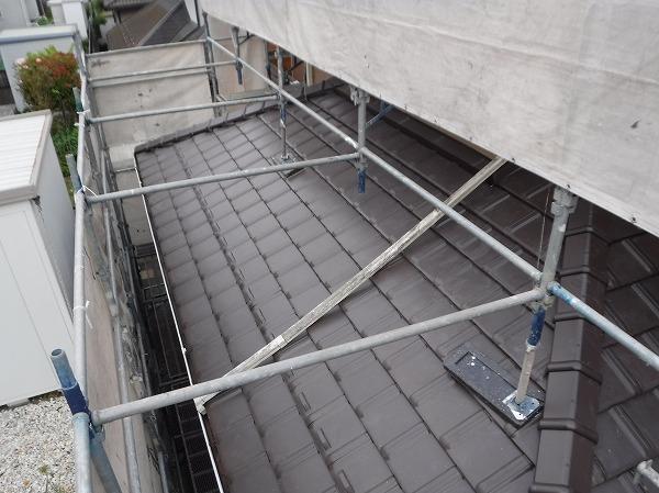 平板瓦1階屋根完工