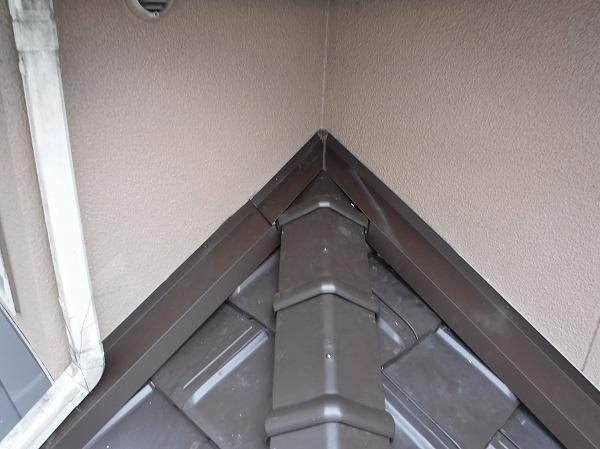 棟際壁水切り工事