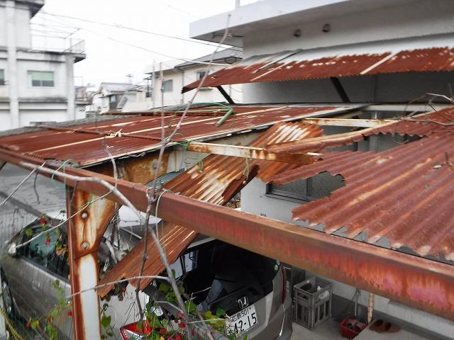 カーポート板金波板屋根