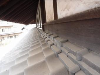 1階屋根壁際