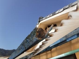 ポリカ屋根野淵劣化