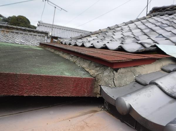 屋上屋根シングル庇部取り合い