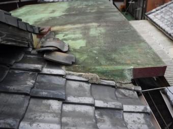 防水屋根、瓦屋根取り合い