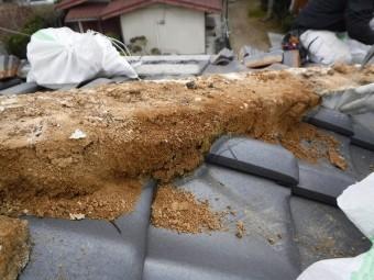雨水侵入による赤土劣化