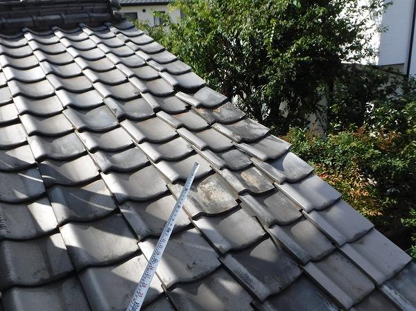北側台所天井雨漏り屋根