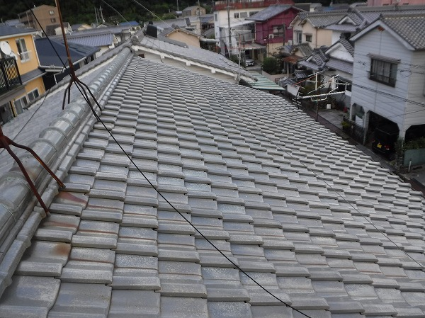 雨漏り瓦屋根・切妻