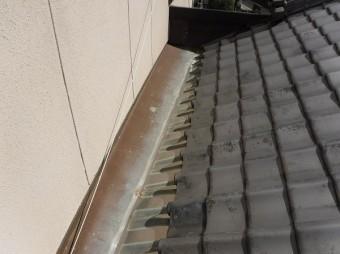 増築部分ステンレス板