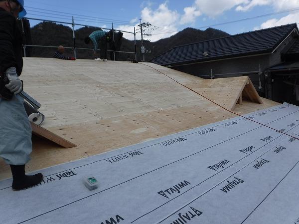 新築ドーマ有る屋根