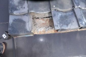 トタン屋根未塗装部分