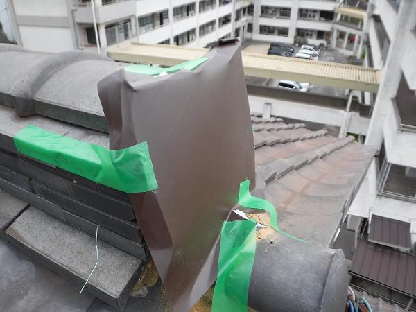 ガルバリウム鋼板鬼瓦代替え