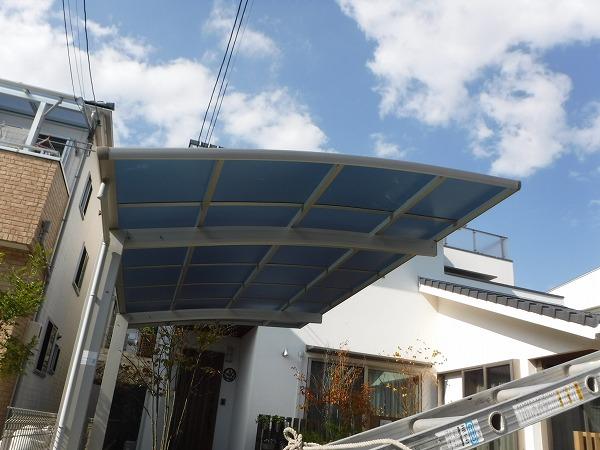 ポリカ板復旧工事完工