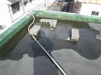 排水ドレン周り水溜まり