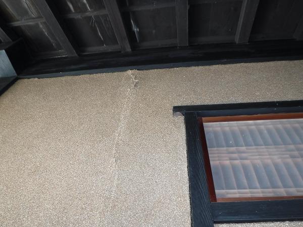 綿壁雨漏りシミ跡