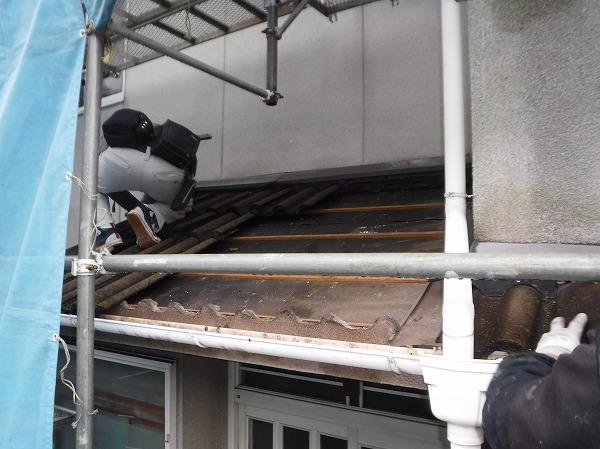 葺き替え工事下屋根
