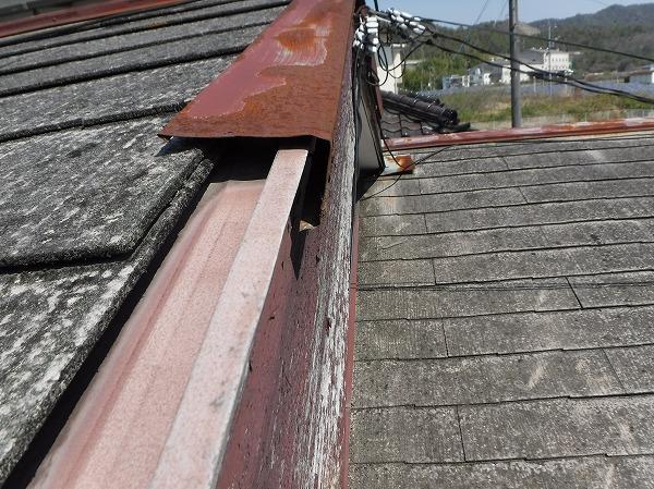 台風でケラバ水切り板金剥がれ