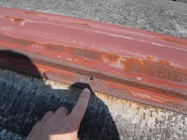 スレート屋根棟板金釘ぬけそう