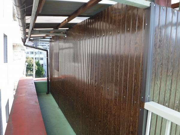 物干し場プリント壁復旧工事