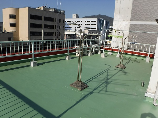 東広島市シート防水工事完成