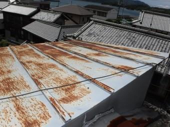 呉市瓦棒屋根点検調査