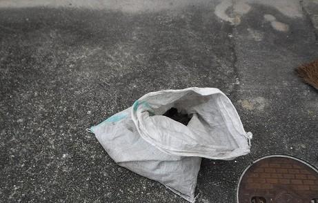 土のう袋ゴミ一杯