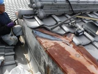 板金からの雨漏り