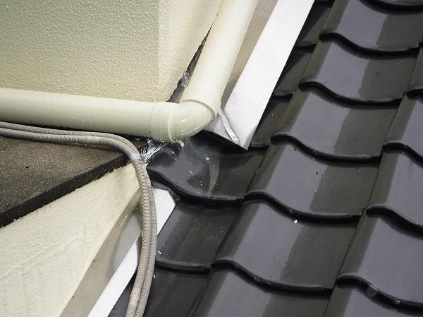 雨漏り屋根水切り